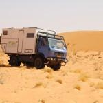 In de woestijn van Mauritanie