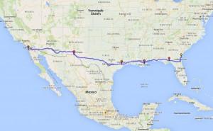 Globale route die we dit najaar nemen