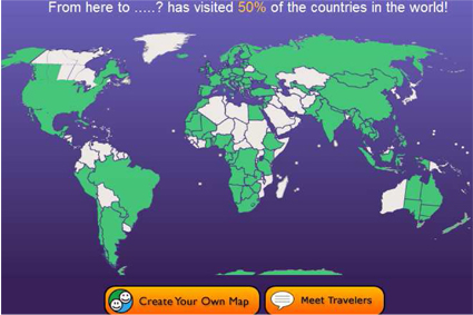 overzicht bezochte landen